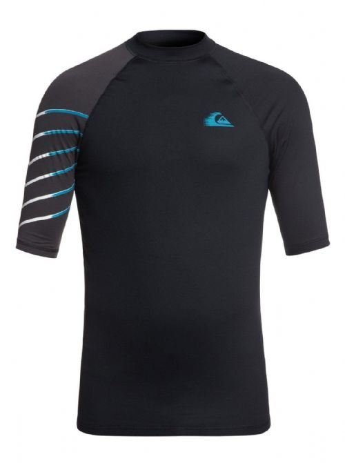 QUIKSILVER MENS RASH VEST.NEW ACTIVE UPF50+ BLACK GUARD SURF TOP T SHIRT 8W 12 K